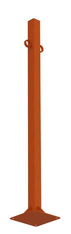 Столбик тротуарный под анкер, для ограждения тротуаров, парковки.. ТМ Кольчуга (Kolchuga), фото 2