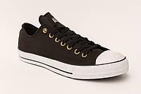 Кеды Converse  All Star Чёрные низкие подошва белая