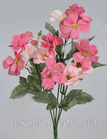 Букет Клематис яскраво-рожевий 34см штучні Квіти