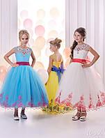 Детское нарядное платье 16/356 короткое желтое- прокат, киев, Троещина