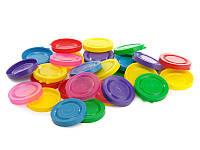 Крышка пластмассовая, мягкая, цветная (горизонт), (200 шт. в мешке), цена за 1 шт.