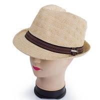 Соломенная мужская шляпа brezza 041402-041-10 темно-бежевая