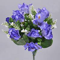 Букет голубых ирисов с ромашками  45см Цветы искусственные