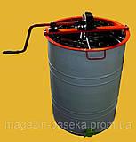 Медогонка с поворотом кассет  2-х рамочная (алюмоцинк), фото 3