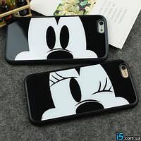 Чехол силиконовый Mickey Minnie Mouse на Iphone 6 plus