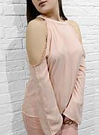 Брендовая Женская блузка черная с голыми плечами
