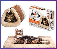Домик-лежанка для собак и кошек Kitty Shack 2 in 1 Tunnel Bed & Mat, фото 1