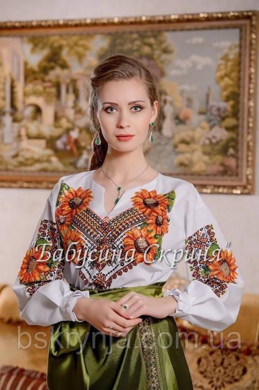 Заготовка жіночої сорочки для вишивки нитками/бісером БС-9