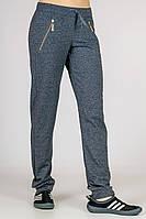 """Трикотажные женские штаны """"DENIM"""" серые, фото 1"""