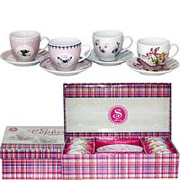 Сервиз чайный 12 пр. 'Цветы' микс 4 SNT 1438-4