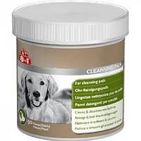 Салфетки 8 in 1 Ear Cleansing Pads для ушей собак очищающие, 90 шт