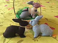 Набор Пасхальный кролики зайчики большие 3 шт