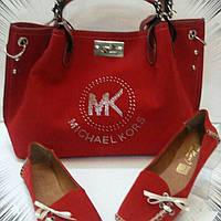 Красный замшевый набор MICHAEL KORS сумка, туфли