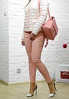 Женские брюки персиковые пудра  брендовые Италия