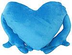 "Подушка-обнимашка в форме ""Сердце"", голубая, фото 2"