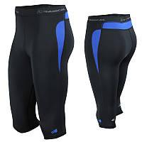 Спортивные мужские штаны-тайтсы Radical Rapid 3/4 (original)(Польша) Черно-синий, XL