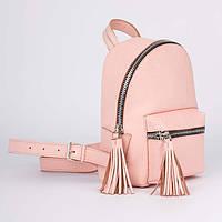 Розово-персиковый рюкзак Флатар, фото 1