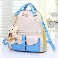 Рюкзак сумка с брелком мишка
