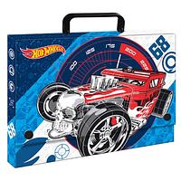 Папка-портфель С4 школьная  Hot Wheels картонная