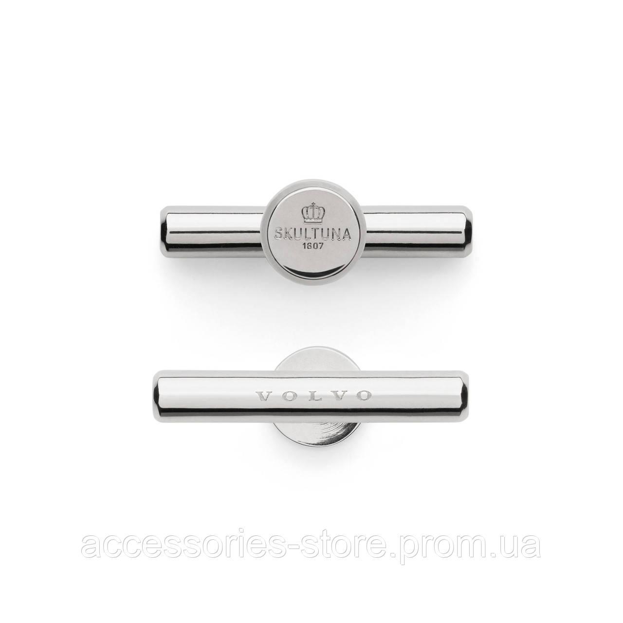 Запонки серебряные Volvo, silver by Skultuna