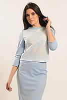Повседневная блуза свободного кроя с принтом 42-52 размера, фото 1