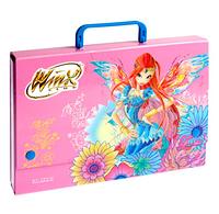 Папка-портфель С4 школьная Winx  картонная