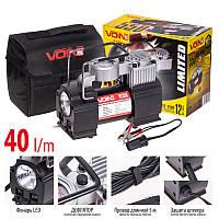 """Компрессор """"VOIN"""" VL-550 150psi/15Amp/40л /прикур./ фонарь/ дефлятор/переходник на клеммы"""
