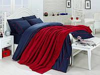 Набор постельное белье + вязаное покрывало  First Choice Nirvana Style Kirmizi