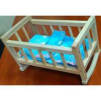 Деревянная кроватка-колыбель для кукол ВП-002/1 Винни Пух
