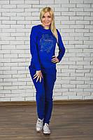 Женский велюровый костюм электрик