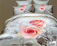 Постельное 3D сатин Розы