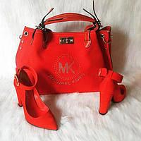 Алый набор Michael Kors сумка, туфли