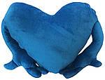 """Подушка-обнимашка в форме """"Сердце"""", синяя, фото 2"""