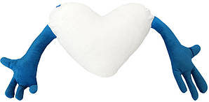 "Подушка-обнимашка в форме ""Сердце"", синяя"