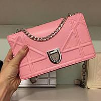 Стильная  женская сумка клатч  Dior Diorama розовая