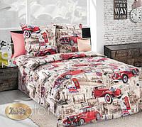 Комплект детского постельного белья ретро машины