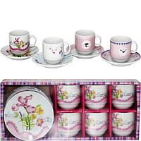 Сервиз кофейный 12 пр. 'Цветы' микс 4 SNT 1454-4