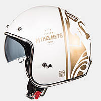 Мотошлем MT-Helmets LE MANS SV DIVENIRE Gloss Pearl white\Gold