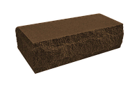 Цегла рвана тичкова скеля темно-коричнева