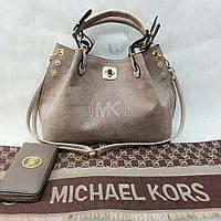Пепельный набор Michael Kors сумка, туфли, палантин