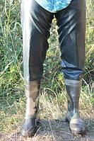 Рыбацкие сапоги заброды камуфляж с мягким наколенником силикон