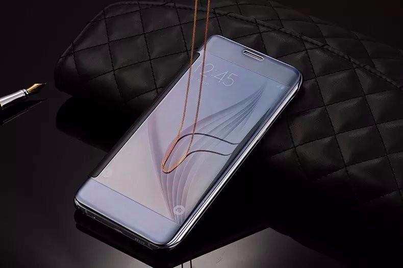 Чехол-книжка с зеркальной поверхностью Samsung Galaxy J1/J120H (2016 год)