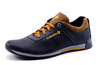 Туфли Columbia мужские спортивные, натуральная кожа, темно-синие с коричневым, р. 42 44