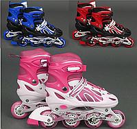 Ролики Best Rollers 38-41 переднее колесо светится в движении сумка в комплекте