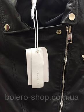 Куртка женская  кожаная черная Imperial, фото 2