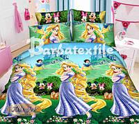 Комплект дитячої постільної білизни принцеса Рапунцель