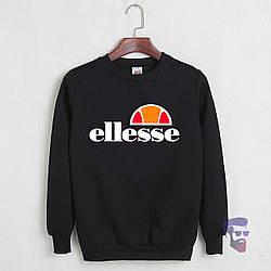 Спортивная кофта Ellesse, Еллессе, свитшот, трикотаж, мужской, черного цвета, копия