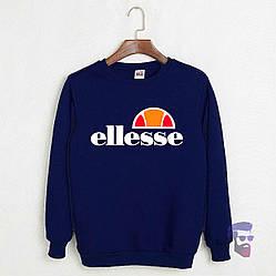 Спортивная кофта Ellesse, Еллессе, свитшот, трикотаж, мужской, синего цвета, копия
