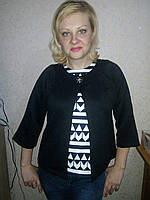 Пиджак женский трикотаж 46-52 , доставка по Украине