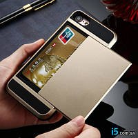 Чехол пластиковый золотой держатель карты на Iphone 7